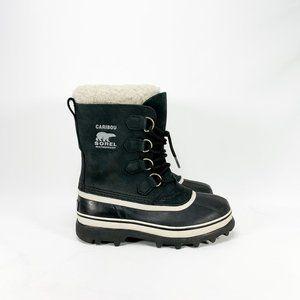SOREL Caribou Black Waterproof Winter Boots
